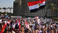 Demonstrasjon på Tahrirplassen i Kairo. Foto: Lorenz Khazaleh