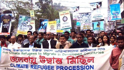 klimademonstrasjon i bangladesh