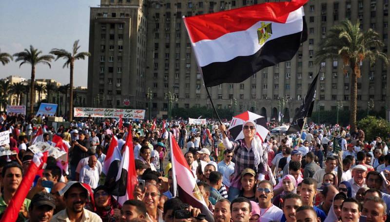 Demonstrasjon på Tahrirplassen i Kairo